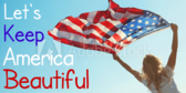 Keep America Beautiful Flag Waving Banner