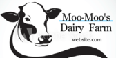 Dairy Farm With Cow Graphic Banner