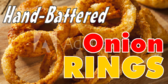 Hand Battered Onion Rings Ad for Concessions