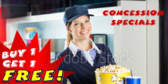 Movie Concession Matinee Specials Banner