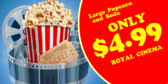 Movie Concession Popcorn & Drink Banner