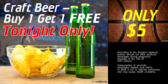 Basketball Concession Beer Promotion Banner