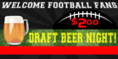 Football Concession Beer Promotion Banner