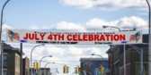 35' Over Street 4th of July Fireworks Banner