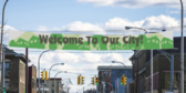 35' Welcome To Our City Over Street Banner