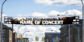 35' Over the Street Concert Banner