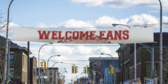 35' Over Street Welcome Fans 18oz Banner
