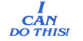 Encouragement I Can Do This Banner
