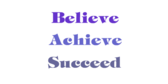 Encouragement Believe Achieve Succeed Banner