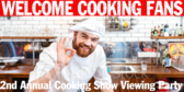 Viewing Cooking Show Party Banner