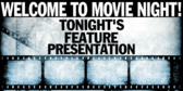 Viewing Movie Night Party Banner