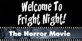 Fright Night Viewing Horror Movie Party Banner