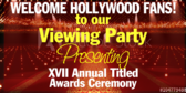 Viewing Hollywood Awards Party Banner