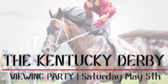 Viewing Kentucky Derby Horse Racing Party Banner