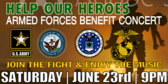 Benefit Concert for Armed Forces Banner
