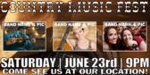 Concert Country Music Banner