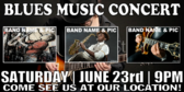 Concert Music Blues Banner