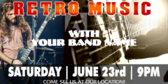 Concert Retro Band Banner