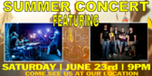 Summer Concert Rock & Roll Banner