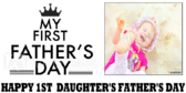 Father's Day First Daughter's Banner