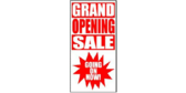 Vertical Grand Opening Sale Banner