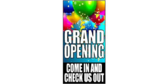 Vertical Grand Opening Announcement Banner