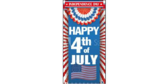 Vertical Happy 4th of July Banner