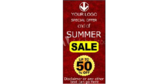Vertical End of Summer Sale Banner
