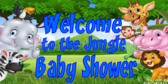 Safari Baby Shower Welcome Banner