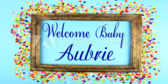 Welcome Baby Shower Banner