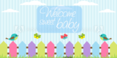 Sweet Baby Welcome Baby Shower Banner