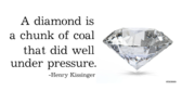 Diamonds Do Well Encouragement Under Pressure Banner