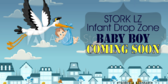 Military Baby Boy Stork Drop Zone Shower Banner