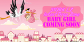 Military Baby Girl Stork Drop Zone Shower Banner