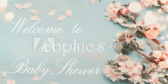 Welcome Floral Baby Shower Banner