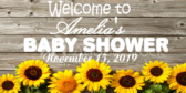 Welcome Amelia Baby Shower Banner