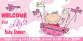 Welcome Lily Baby Shower Banner