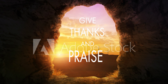 Give Thanks and Praise Banner