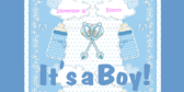 It's a Boy Bottle and Rattle Themed Banner