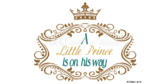 It's a Boy A Little Prince is on His Way Banner