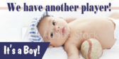 It's a Boy Sports Themed Banner