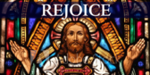 Stained Glass Series Worship Rejoice Banner