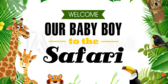 It's a Boy Welcome to the Safari Banner