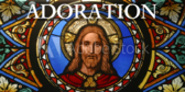 Stained Glass Series Adoration Banner