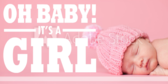 It's a Girl Pink and Gold Oh Baby Banner