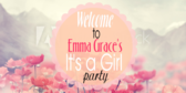 It's a Girl Flower Name Banner