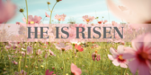 Stained Glass Series He Is Risen Banner
