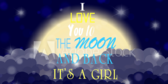 It's a Girl Love To The Moon and Back Banner