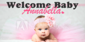 Welcome Baby Pink Banner