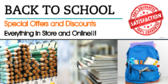 Back to School Special Offers Sale Sign